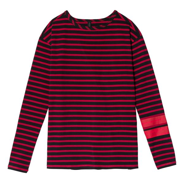 10days-Longsleeve-Pullover-Sweatshirt-Stripes-Black-Darkred-Gestreift-Streifen