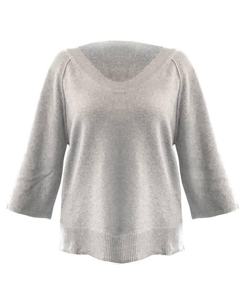 Der Shortsleeve Sweater von 10days ist ein sehr schöner Pullover, der zu in keinem Kleiderschrank fehlen darf. Durch die schlichte Farbe des melierten Grautons ist der Sweater zu vielen Dingen kombinierbar.