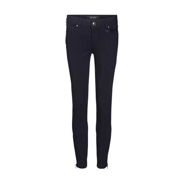 Dunkelblaue Jeans von der Marke Mos Mosh mit hohem Bund, eng geschnitten