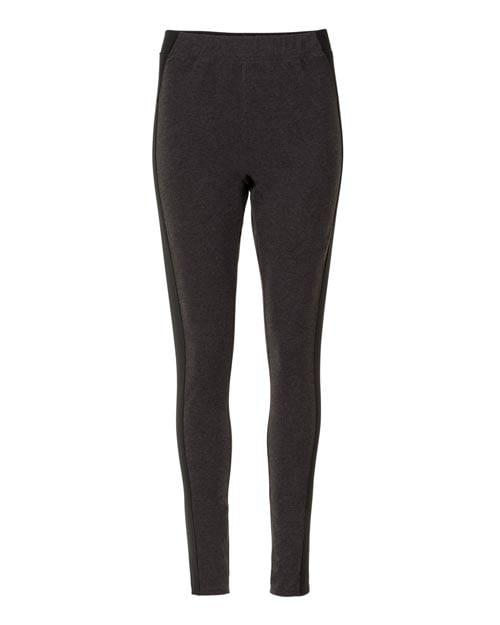 Die Yoga Leggings von 10 days in antrazit mit schwarzen Details an den Seiten. Die Materialmischung aus Polyamide und Elastane ist super angenehm, auch wenn man ins Schwitzen kommt. Dennoch ist die Leggings so stylisch, dass man sie problemlos auch im Alltag tragen kann