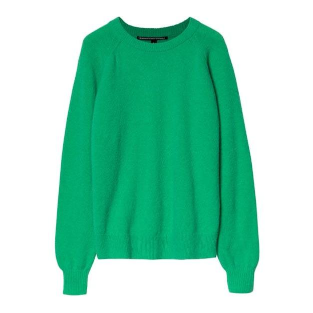 Ein Basic Sweater für jeden Tag, der jedoch durch die Farbe garantiert Ihr Kleiderschrank aufpeppt. Mit Merinowoll Anteil hat dieser Pullver eine super flauschige Qualität.
