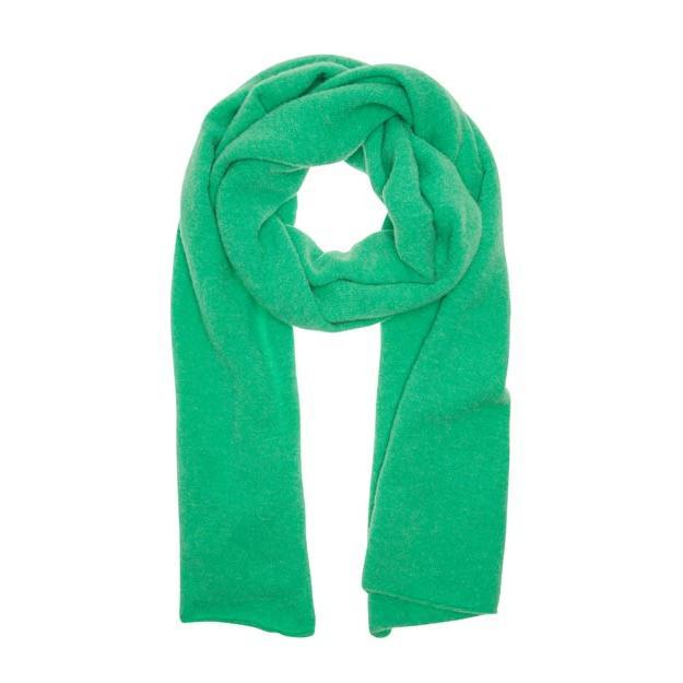 Ein cooler Schal von 10 Days in auffälligem Grünton. Der Materialanteil mit Merinowolle macht den Schal richtig flauschig und warm für die kommende Saison.