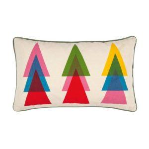 Kissen von der Marke PAD mit abstraktem, geometrischem Weihnachtsmuster, bunt gemustert