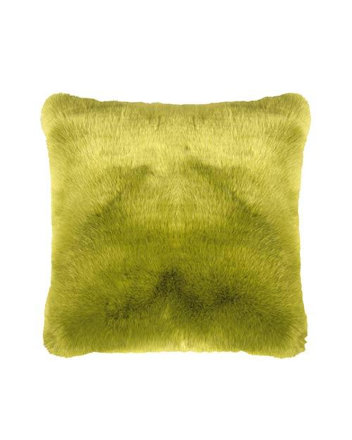 Kissen aus Fell-Imitat von der Marke PAD in grün