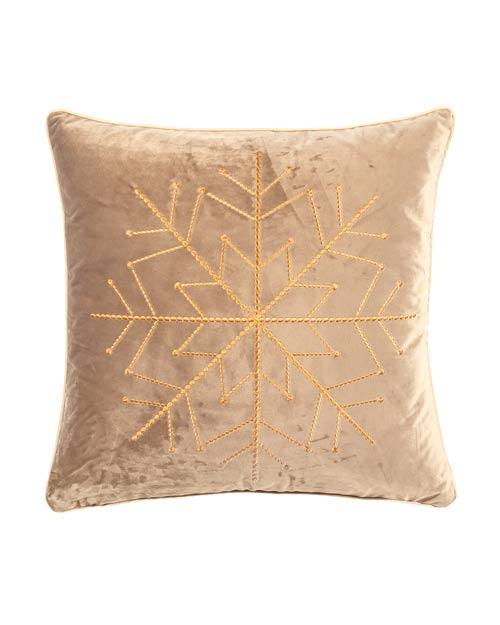 Kissen von der Marke PAD in beige mit Sternenmuster aus Pailletten