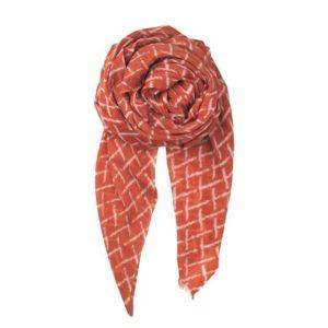 kennedia-spiced-coral-beck-soendergaard-schal-fransen-tuch-scarf