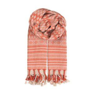 Seal-spiced-coral-beck-soendergaard-schal-fransen-tuch-scarf