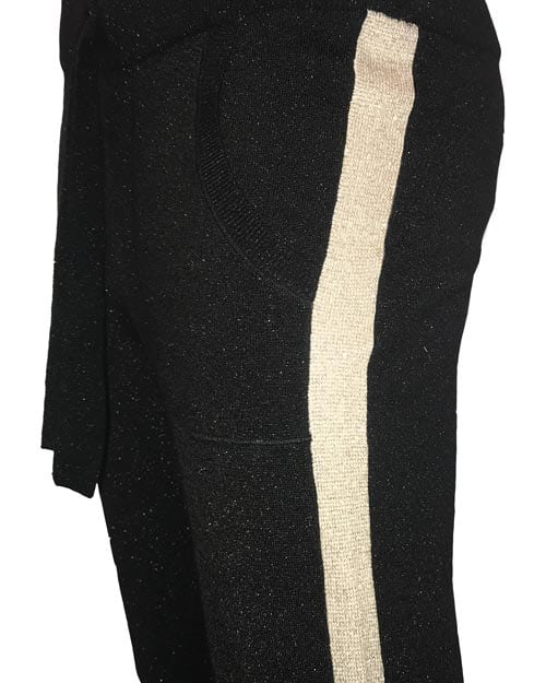 Gustav Denmark Lurex Knit Pants Schwarz Inside Living Shop