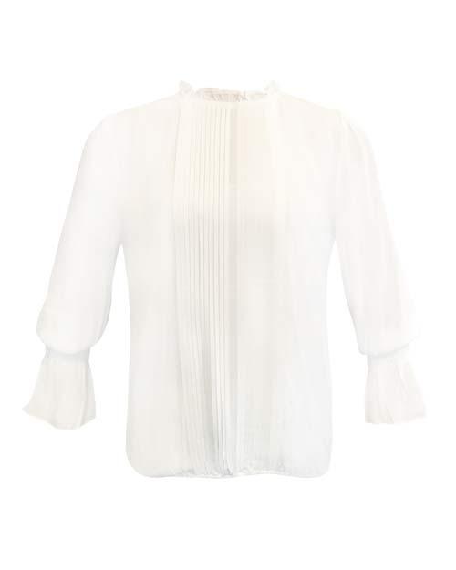 Penny Blouse - Klassische weiße Bluse von JC Sophie