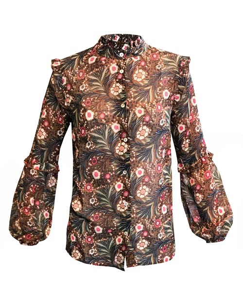 Piper Blouse von JC Sophie - Bluse mit floralem Muster und Rüschen