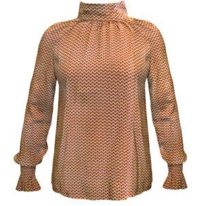Gemusterte Bluse mit langen Ärmeln von JC Sophie