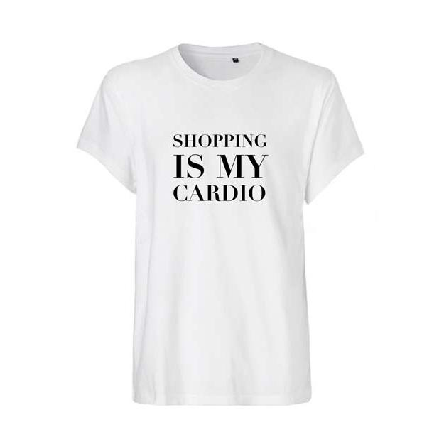 Lookabe Statement Fashion T-Shirt Shopping is my Cardio