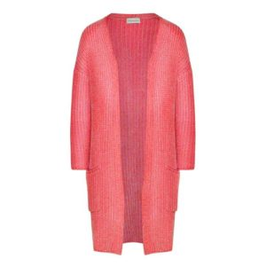 Langer Cardigan von delicate love aus Chenille Material in Coral