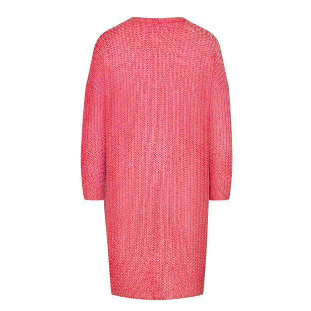 Langer Cardigan von delicate love_back aus Chenille Material in Coral