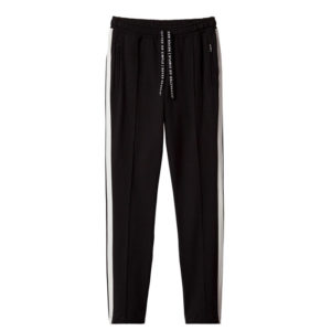 10-Days-amsterdam-Sporty-Pants-hose-Black-schwarz-casual-stripes-streifen-vorne