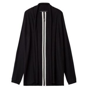 10days-amsterdam-cardigan-black-casual-schwarz-vorderseite-front