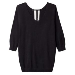 10days-amsterdam-vneck-sweater-black-pullover-schwarz-vorderseite-front