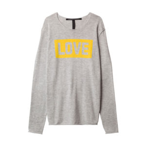 10days-amsterdam-sweater-pullover-Love-print-yellow-grey-front