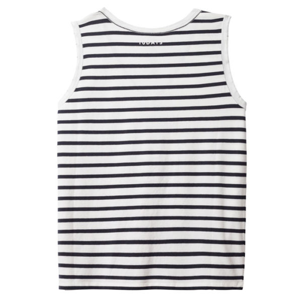 10days-amsterdam-Sleeveless-Top-stripe-dark-grey-blue-ecru-streifen-casual-look-back-rueckseite