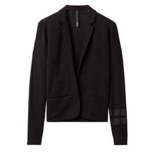 10days-Amsterdam-Blazer-Tee-Black-Sporty-Casual-Summer-Outfit-Schwarz-Vorderseite-Front