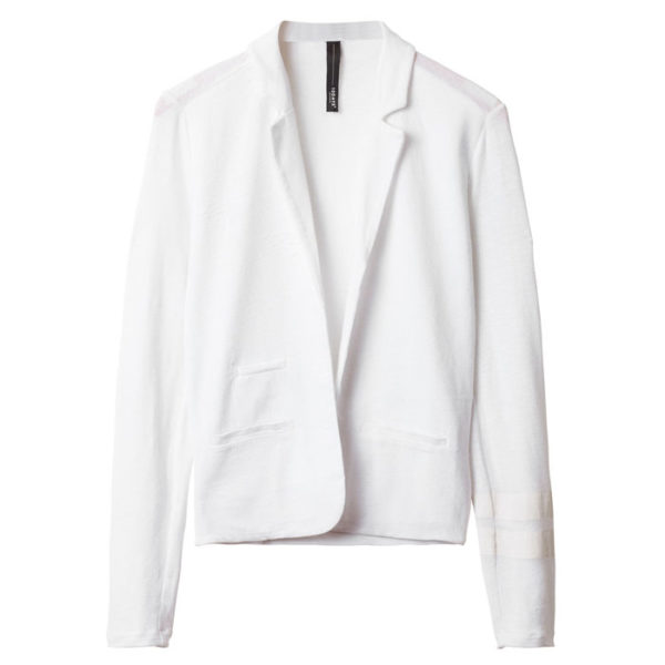 10days-Amsterdam-Blazer-Tee-White-Sporty-Casual-Summer-Outfit-Weis-Vorderseite-Front