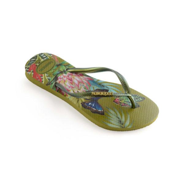 3havaianas Flipflops Sandale Badeschuh Zehentrenner Slim Tropical Camo Green Badelatschen Badeschlappen Einzel