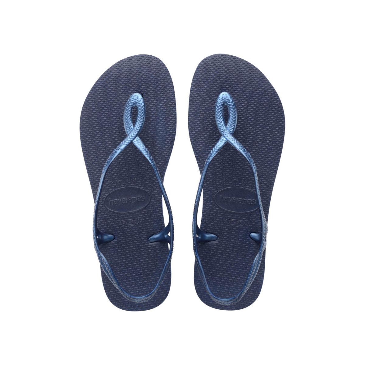 Havaianas Flipflops Sandale Badeschuh Zehentrenner Luna Navy Blue Badelatschen Badeschlappen Aufsicht