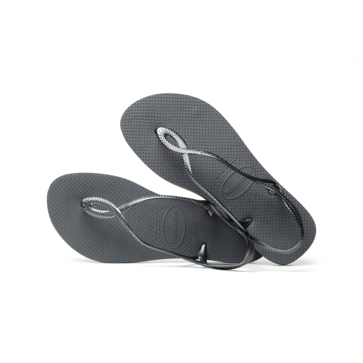 Havaianas Flipflops Sandale Badeschuh Zehentrenner Luna Steel Grey Badelatschen Badeschlappen