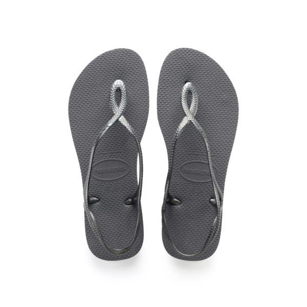 Havaianas Flipflops Sandale Badeschuh Zehentrenner Luna Steel Grey Badelatschen Badeschlappen Aufsicht