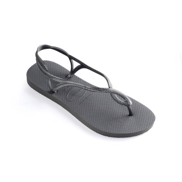 Havaianas Flipflops Sandale Badeschuh Zehentrenner Luna Steel Grey Badelatschen Badeschlappen Einzel