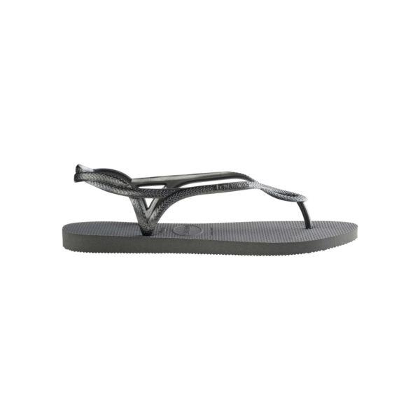 Havaianas Flipflops Sandale Badeschuh Zehentrenner Luna Steel Grey Badelatschen Badeschlappen Seite