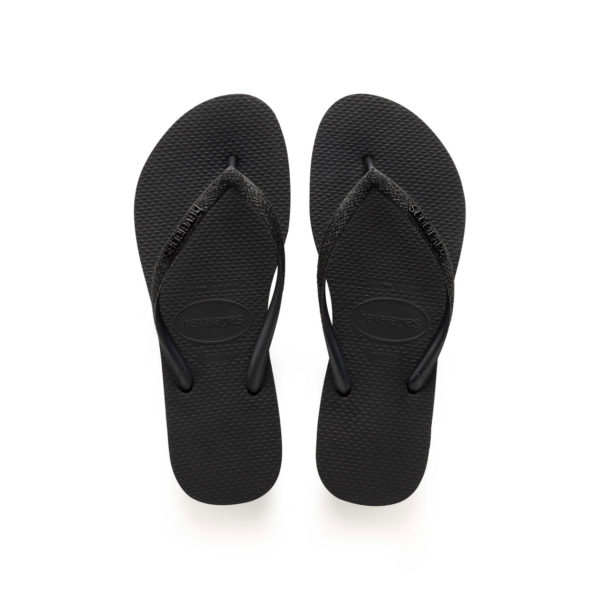 Havaianas Flipflops Sandale Badeschuh Zehentrenner Slim Glitter Black Badelatschen Badeschlappen Aufsicht