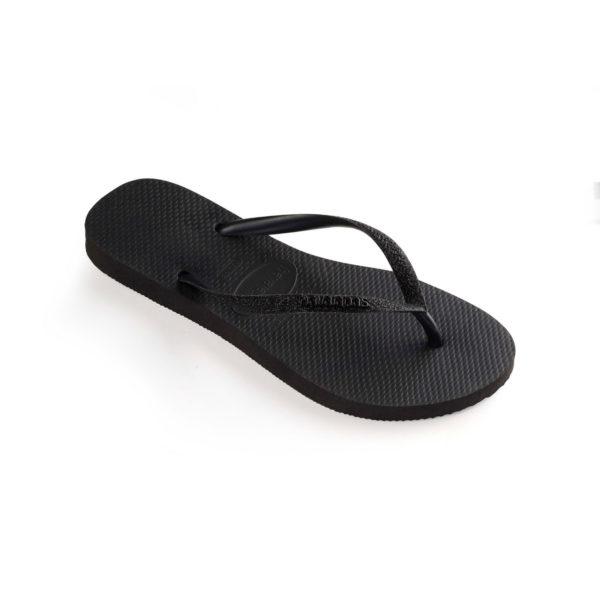 Havaianas Flipflops Sandale Badeschuh Zehentrenner Slim Glitter Black Badelatschen Badeschlappen Einzel