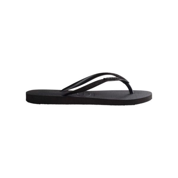 Havaianas Flipflops Sandale Badeschuh Zehentrenner Slim Glitter Black Badelatschen Badeschlappen Seite