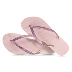 Havaianas Flipflops Sandale Badeschuh Zehentrenner Slim Glitter Rosa Ballett Badelatschen Badeschlappen