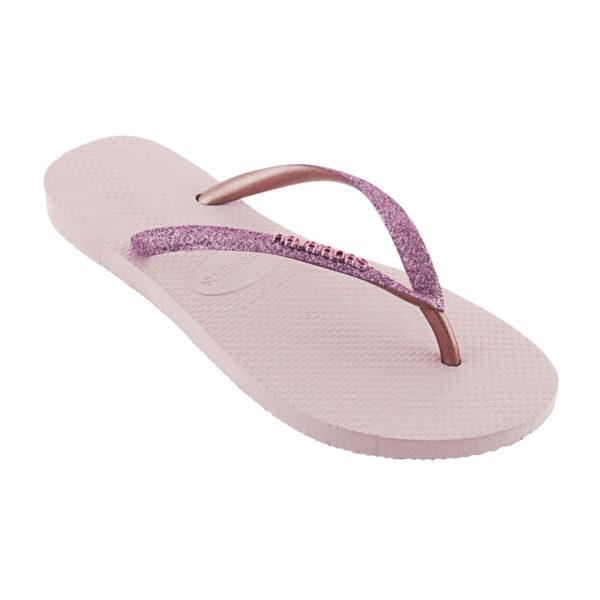 Havaianas Flipflops Sandale Badeschuh Zehentrenner Slim Glitter Rosa Ballett Badelatschen Badeschlappen Einzel