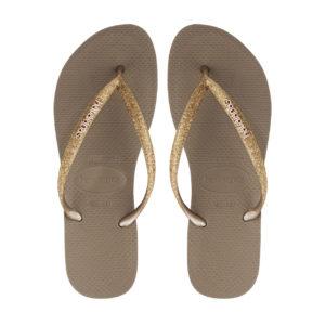 Havaianas Flipflops Sandale Badeschuh Zehentrenner Slim Glitter Rose Gold Badelatschen Badeschlappen