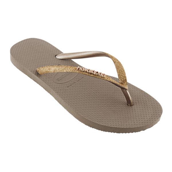 Havaianas Flipflops Sandale Badeschuh Zehentrenner Slim Glitter Rose Gold Badelatschen Badeschlappen Einzel