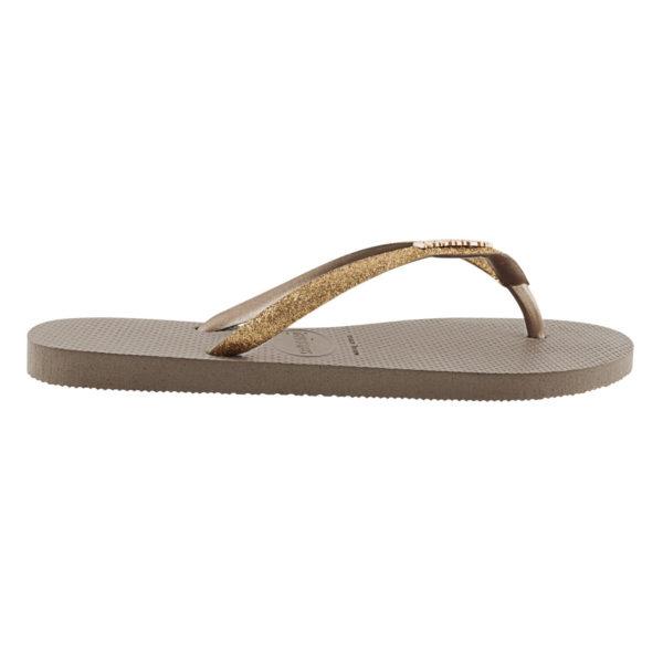 Havaianas Flipflops Sandale Badeschuh Zehentrenner Slim Glitter Rose Gold Badelatschen Badeschlappen Seite