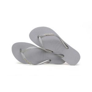 Havaianas Flipflops Sandale Badeschuh Zehentrenner Slim Glitter Steel Grey Badelatschen Badeschlappen