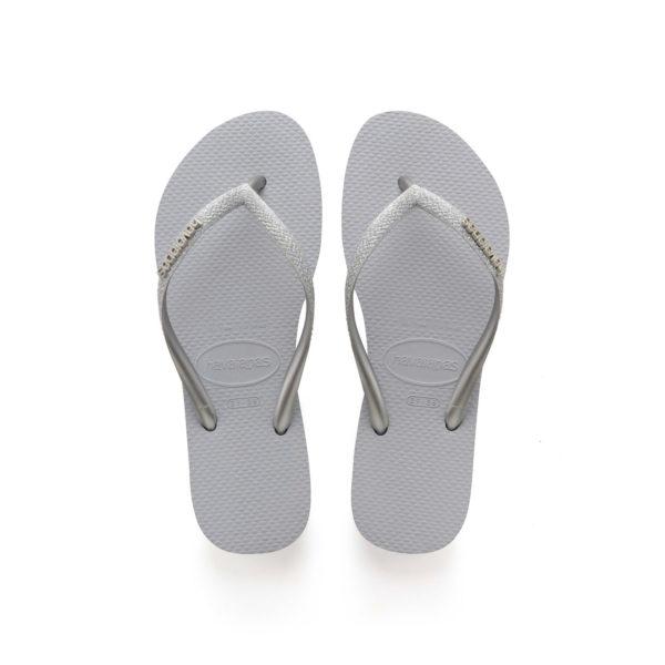 Havaianas Flipflops Sandale Badeschuh Zehentrenner Slim Glitter Steel Grey Badelatschen Badeschlappen Aufsicht