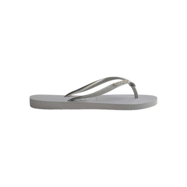 Havaianas Flipflops Sandale Badeschuh Zehentrenner Slim Glitter Steel Grey Badelatschen Badeschlappen Seite