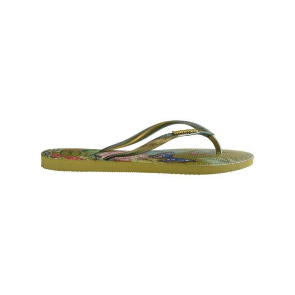 Havaianas Flipflops Sandale Badeschuh Zehentrenner Slim Tropical Camo Green Badelatschen Badeschlappen Seite
