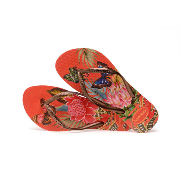 Havaianas Flipflops Sandale Badeschuh Zehentrenner Slim Tropical Strawberry Badelatschen Badeschlappen