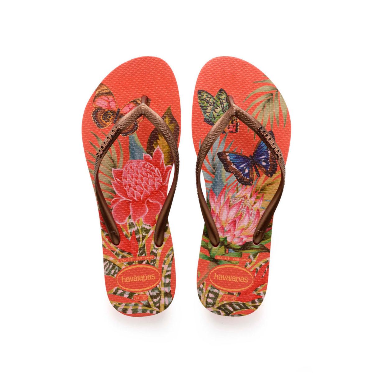 Havaianas Flipflops Sandale Badeschuh Zehentrenner Slim Tropical Strawberry Badelatschen Badeschlappen Aufsicht