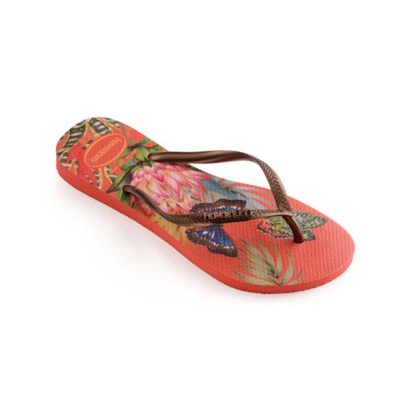 Havaianas Flipflops Sandale Badeschuh Zehentrenner Slim Tropical Strawberry Badelatschen Badeschlappen Einzel
