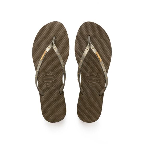 Havaianas Flipflops Sandale Badeschuh Zehentrenner You Maxi Dark Khaki Badelatschen Badeschlappen Aufsicht