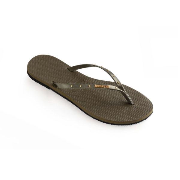 Havaianas Flipflops Sandale Badeschuh Zehentrenner You Maxi Dark Khaki Badelatschen Badeschlappen Einzel