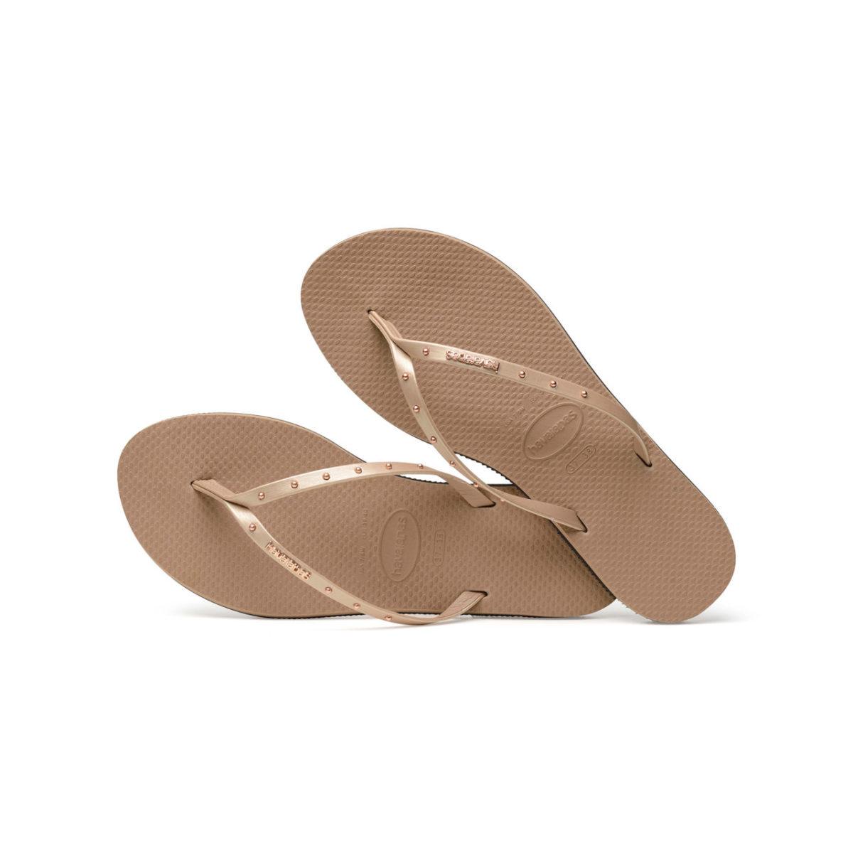 Havaianas Flipflops Sandale Badeschuh Zehentrenner You Maxi Rose Gold Badelatschen Badeschlappen