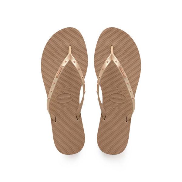 Havaianas Flipflops Sandale Badeschuh Zehentrenner You Maxi Rose Gold Badelatschen Badeschlappen Aufsicht